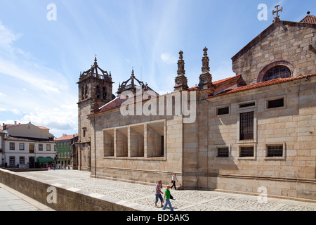 Braga's Cathedral, the most ancient of all cathedrals in Portugal and a main worship place. - Stock Photo