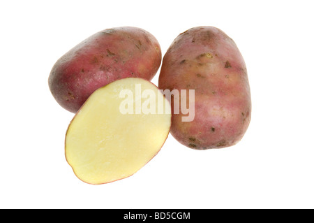 new potatoes isolated over white - Stock Photo