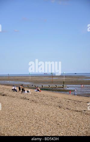Beach view, Southend-on-Sea, Essex, England, United Kingdom - Stock Photo
