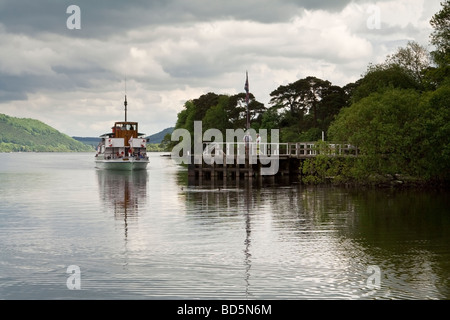 A passenger ferry on Ullswater, Cumbria, the Lake District, UK.