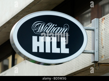 William Hill Bookmakers Sign - July 2009 - Stock Photo