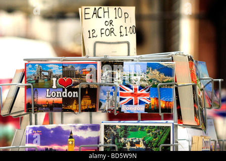 London Postcards for Sale London Britain. - Stock Photo