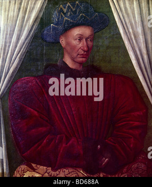 Charles VII 'the Victorious', 22.2.1403 - 22.7.1461, King of France 1422 - 1461, half length, painting 'Charles - Stock Photo