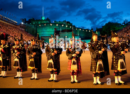 Edinburgh Military Tattoo show 2009, Scotland, UK - Stock Photo