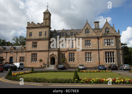 Bangor Castle now the town hall home of north down borough council county down northern ireland uk - Stock Photo