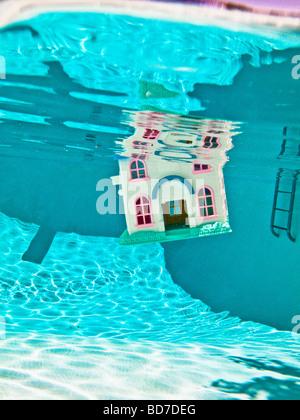 Sinking house - Stock Photo