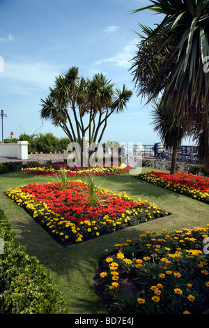 Clacton on sea seafront war memorial gardens stock photo - The well tended perennial garden ...