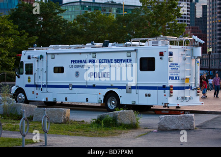United States Department of Homeland Security.  Federal Protective Service Police Mobile Command Unit. - Stock Photo