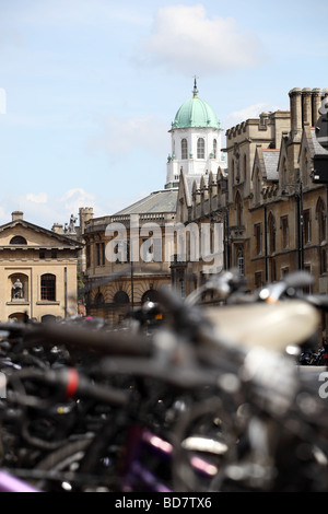 View from broad street Oxford towards the Sheldonian Theater.