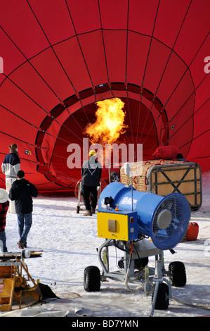 2008 Chateau d Oex Hot Air Balloon Festival Switzerland Europe - Stock Photo