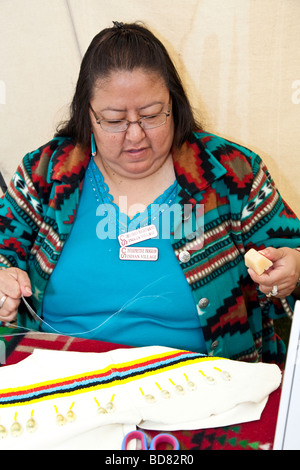 Female Crafts Person American Plaims Native Indian In