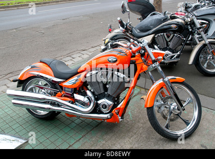 A US made Victory motorbike - Stock Photo