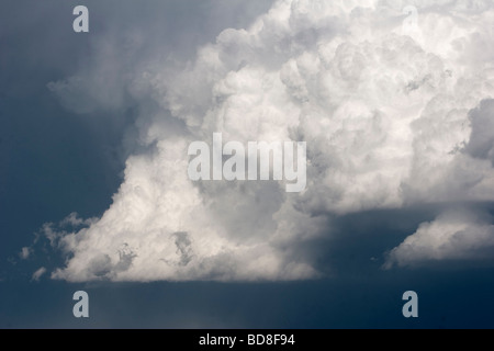 A thunderstorm in the distance in southern Kansas June 4 2009 - Stock Photo