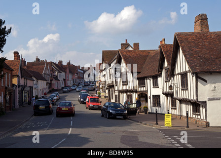 High Street, Lavenham, Suffolk, UK. - Stock Photo