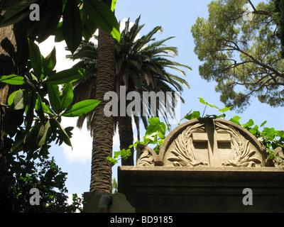 gravestone in protestant cemetery near piramide, rome Stock Photo