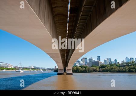 The Captain Cook Bridge over the Brisbane River in Brisbane, Australia - Stock Photo