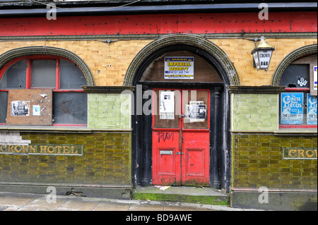The centre of Manchester is littered with closed old pubs. - Stock Photo