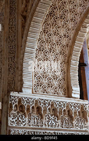 Detail of decoration alhambra palace granada andalucia for Alhambra decoration