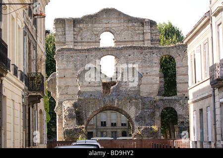 Palais Gallien, Roman amphitheatre, Bordeaux, Gironde, France - Stock Photo