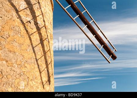 Windmill near Saint Saturnin-lès-Apt, Provence, France - Stock Photo