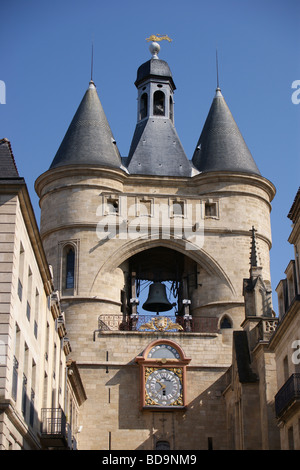 Grosse Cloche city gate, Bordeaux, Gironde, France - Stock Photo