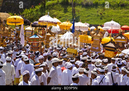 Panca Wali Krama holy Celebration at Besakih temple every ten years Bali Indonesia - Stock Photo