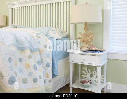 Beach house bedroom interior