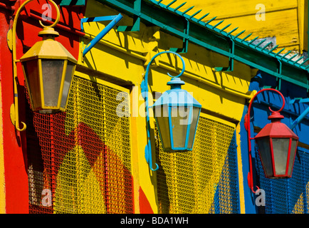 Colorful detail in the neighborhood of La Boca Buenos-Aires Argentina - Stock Photo
