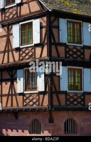 Timbered building in Strasbourg Alsace Bas Rhin France - Stock Photo