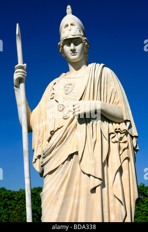 Statue of Pallas Athena at Peterhof in Saint Peterburg, Russia - Stock Photo
