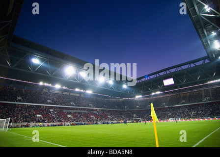 The ESPRIT Arena in Duesseldorf, Germany during a soccer match. - Stock Photo
