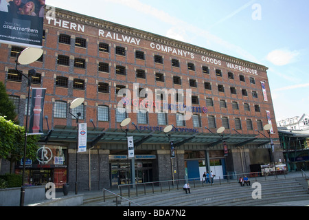 Manchester England UK Great Northern goods warehouse on Deansgate now housing a shopping centre and cinema - Stock Photo