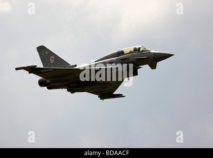 RAF Eurofighter Typhoon F2 Fighter Aircraft in flight in the sky - Stock Photo