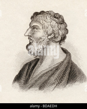 Pittacus of Mytilene born circa 640 BC died 568 BC.  Greek philosopher.  One of the Seven Sages of Greece. Mytilenaean - Stock Photo