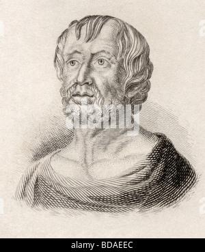Lucius Annaeus Seneca aka Seneca or Seneca the Younger,  born circa 4 BC died AD 65. - Stock Photo