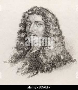 Charles Patin 1633 to 1693.  French doctor and antiquary. - Stock Photo