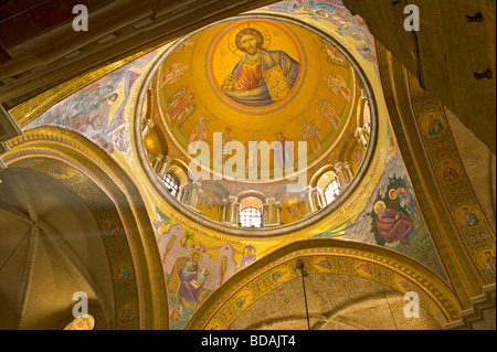 Ceiling detail of the Church of the Holy Sepulchre in Jerusalem. The site is venerated as Calvary where Jesus was - Stock Photo