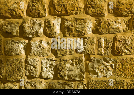A stone wall in Jerusalem Israel - Stock Photo