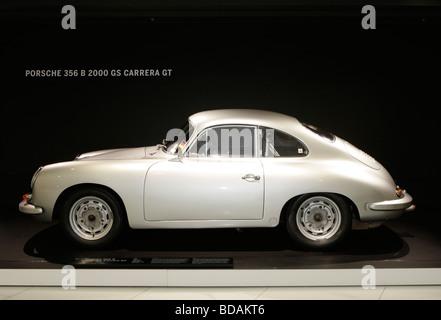 Porsche Carrera GT in the Porsche Museum in Stuttgart,Germany - Stock Photo