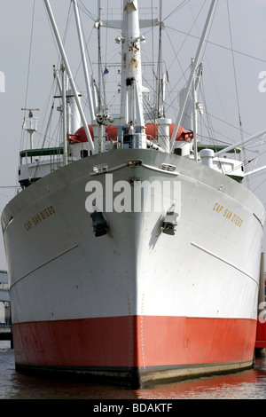Museum Ship Cap San Diego in Hamburg Harbour Germany - Stock Photo