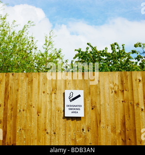 Smoking sign outdoors. - Stock Photo
