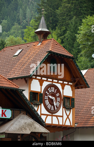 Cuckoo clocks museum and shop with the largest Cuckoo clock in the world in Triberg, Schwarzwald, Germany. - Stock Photo