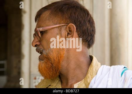Indian man with henna hair dye in Pushkar Stock Photo: 2610514 - Alamy