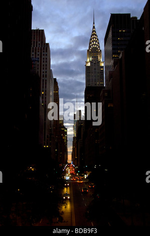 42nd St in mid town Manhattan - Stock Photo