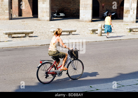 Daily life Cremona Italy - Stock Photo
