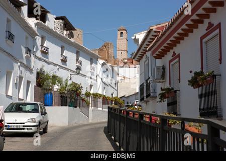 White village Alora. Malaga. Costa del Sol. Andalucia. Spain. Europe - Stock Photo