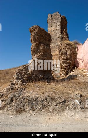 Ruins Castillo Arabe. Alora. Malaga. Costa del Sol. Andalucia. Spain. Europe - Stock Photo
