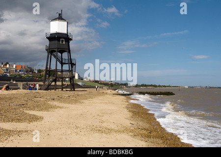 Historic lighthouse on the Essex coast at Dovercourt, England - Stock Photo