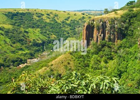 Umgeni River Valley at Howick Falls near Pietermaritzburg in Kwazulu Natal, South Africa - Stock Photo