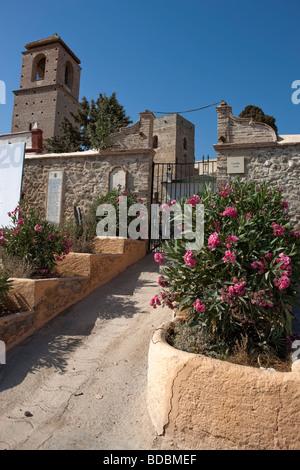 Church and Castillo Arabe.  Alora. Malaga. Costa del Sol. Andalucia. Spain. Europe - Stock Photo